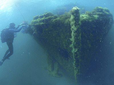 Погружения к затонувшим объектам