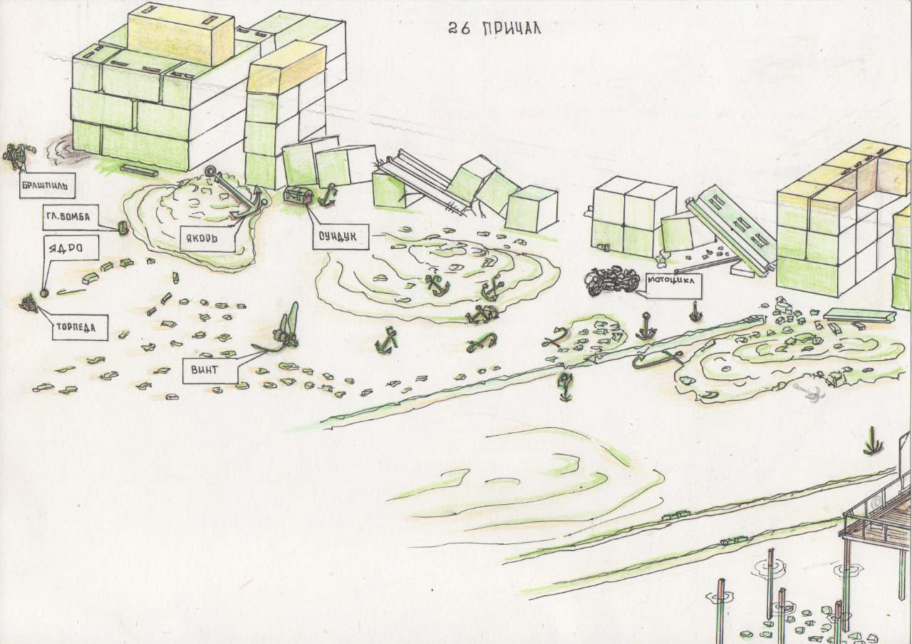 схема места погружения причал №26 Анапа