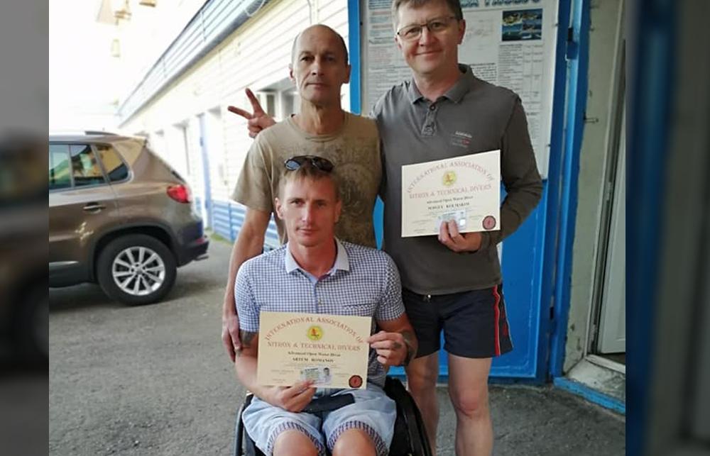 Поздравляем Сергея Колмакова и Артёма Романова с окончанием курса AOWD IANTD